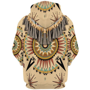 Native Pattern Printed Hoodies Classic Jacket 3D Sweatshirt
