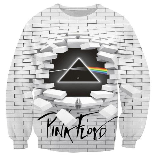 3D Pink Floyd The Dark Side Of The Moon The Wall Print Pullover Sweatshirt Jacket