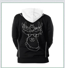 Load image into Gallery viewer, Xmas Print Christmas Long Sleeve Hoodie