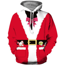Load image into Gallery viewer, Funny Pocket Belt Design Print Pullover Christmas Hoodie Sweatshirt Jacket