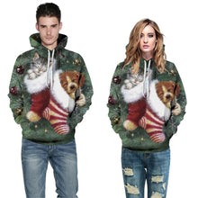 Load image into Gallery viewer, S-5XL Christmas Dog Print Unisex Long Sleeve Hoodie