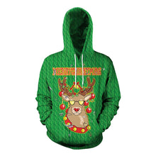 Load image into Gallery viewer, S-5XL Christmas Print Unisex Long Sleeve Hoodie