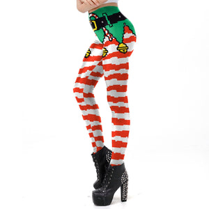 Women Christmas Xmas Leggings Funny Tights