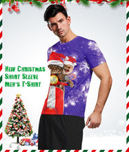 Load image into Gallery viewer, Christmas Short Sleeve Merry Christmas Print Men's T-shirt