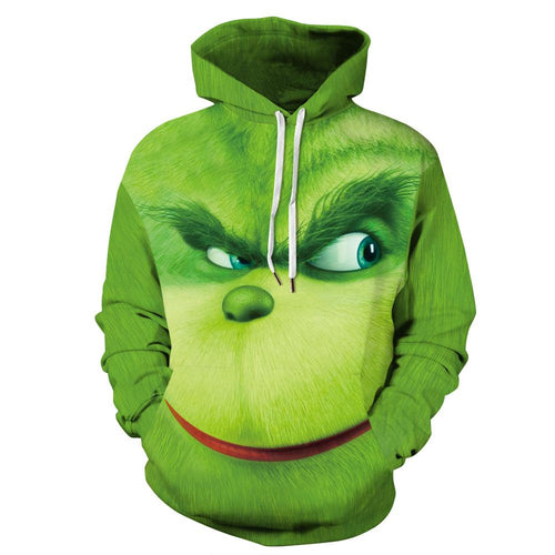 The Grinch 3D Hoodie Casual Hooded Sweatshirt
