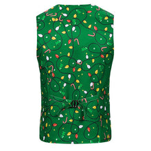 Load image into Gallery viewer, Men's Christmas Lantern Printed Vest Christmas Costume