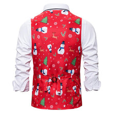 Load image into Gallery viewer, Men's Christmas Snowman Printed Vest Christmas Costume