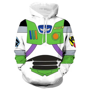 Toy Story Buzz Lightyear Casual Pullover Hoodie Casual Hooded Sweatshirt