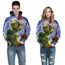 Load image into Gallery viewer, The Grinch Print Christmas Hoodie Casual Sweatshirt