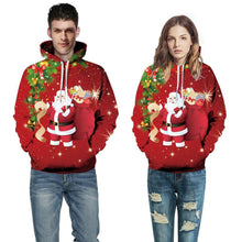 Load image into Gallery viewer, 3D Funny Santa Claus Printed Christmas Pullover Hoodie Sweatshirt