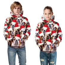 Load image into Gallery viewer, Dog Print Kid Christmas Children Hooded Sweater Long Sleeve Hoodies