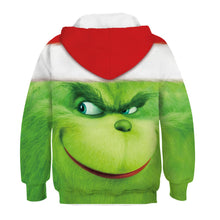 Load image into Gallery viewer, The Grinch Kid Christmas Children Hooded Sweater Long Sleeve Hoodies