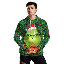 Load image into Gallery viewer, The Grinch Hoodie Funny Christmas Green Monster Print Unisex Long Sleeve Hoodie Sweatshirt Jacket