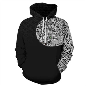 Big and Tall 3D Viking Myth Print Loose Hoodie Sweatshirt Jacket For Men Women
