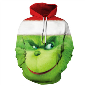 The Grinch Print Christmas Hoodie Casual Sweatshirt