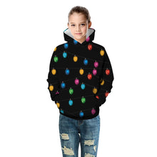 Load image into Gallery viewer, Christmas Light Print Kid Christmas Children Hooded Sweater Long Sleeve Hoodies