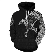 Load image into Gallery viewer, Big and Tall 3D Viking Myth Print Loose Hoodie Sweatshirt Jacket For Men Women