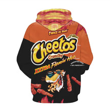 Load image into Gallery viewer, Big and Tall 3D Cheetos Snacks Print Loose Hoodie Sweatshirt Jacket For Men Women