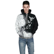 Load image into Gallery viewer, Big and Tall 3D Space Astronaut Print Loose Hoodie Sweatshirt Jacket For Men Women