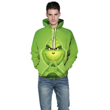 Load image into Gallery viewer, How The Grinch Stole Christmas Hoodie Long Sleeve Casual Sweatshirt Jacket Coat