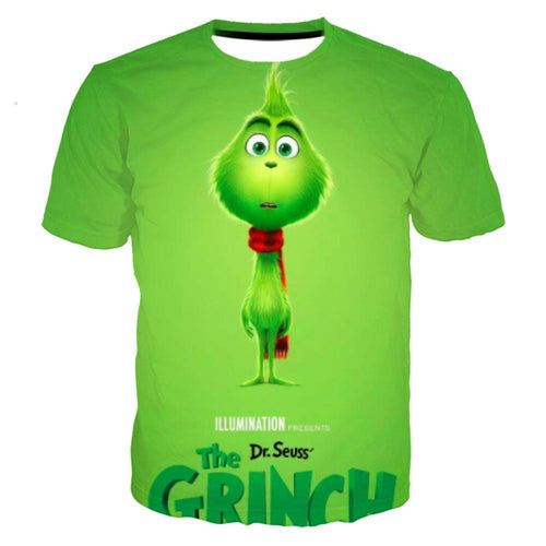 The Grinch Print Funny Christmas T-shirt For Men Women