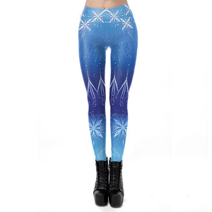 3D Frozen 2 Elsa and Anna Print Slim Funny Bodycon Stretch Women Yoga Pants Leggings Tights
