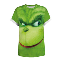 Load image into Gallery viewer, Grinch 3d Print Loose Short Sleeve T-Shirt for Men and Women