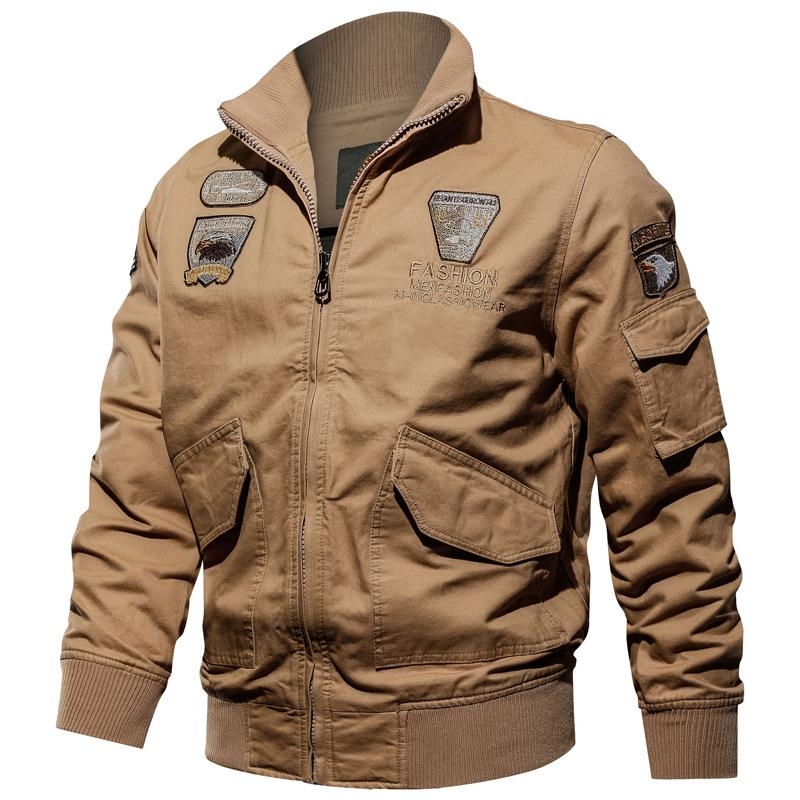 Men's Jacket-Casual Winter Cotton Military Jacket Cargo Coat