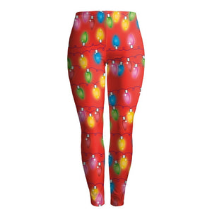 Christmas Lights Print Slim Leggings