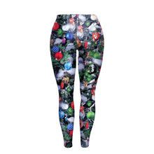 Load image into Gallery viewer, Christmas Element Print Slim-fit X-mas Leggings