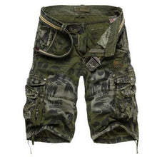 Load image into Gallery viewer, Loose Multi-pocket Casual Camouflage Camo Cargo Shorts