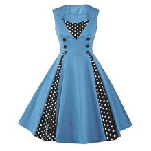 Load image into Gallery viewer, Women's Polka Dot Retro Vintage Style Cocktail Party Swing Dresses