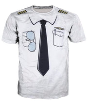 Load image into Gallery viewer, Fake Tie Print Short Sleeve T-shirt