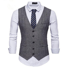 Load image into Gallery viewer, Men's Herringbone Single Breasted Suit Vest Waistcoat