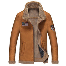 Load image into Gallery viewer, Men's Winter Full Zipper Thick Sherpa Lined Faux Leather Jacket