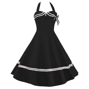 Vintage 1950s Rockabilly Audrey Dress Retro Cocktail Dress