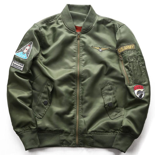 Men's Lightweight Flight Bomber Jacket Windbreaker