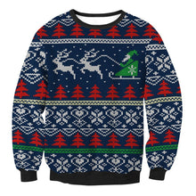 Load image into Gallery viewer, Sweater Pattern Printed Loose Long-sleeved Christmas Top
