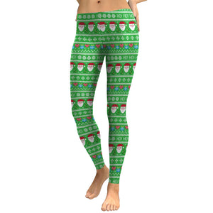 Christmas Snow Print Leggings
