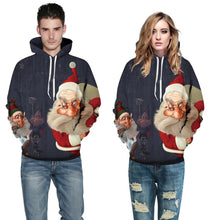 Load image into Gallery viewer, Santa Claus Print Pullover Sports Christmas Sweatshirt
