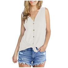 Load image into Gallery viewer, Women Tops Tunic Blouse Tie Knot Henley Loose Fitting Bat Wing Plain Shirts
