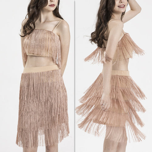 Women's Two-piece Fashion Sexy Tassel Suit