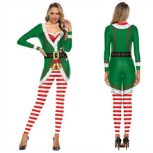 Load image into Gallery viewer, Women Funny Christmas Printed Bodycon Stretch Jumpsuits Christmas Costume