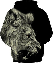 Load image into Gallery viewer, Street Style Lion Head Digital Print Couple Baseball Wear Hoodie