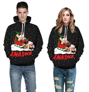 Ugly Christmas Printed Hooded Xmas Sweatshirt