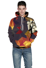 Load image into Gallery viewer, Multi-Color Geometric Digital Print Hoodie