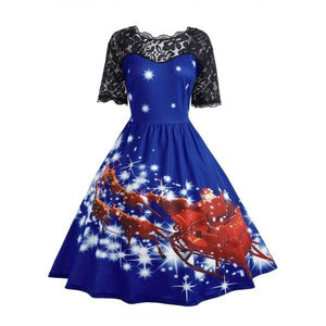 Lace Christmas Vintage Dress