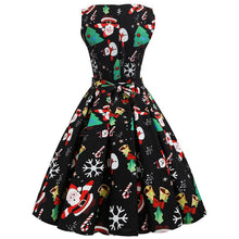 Load image into Gallery viewer, Christmas Dress Women Flare Sleeveless Christmas Dress
