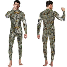 Load image into Gallery viewer, 3D Funny Tree Branches Leaves Print Bodycon Stretch Men Suit Pants Jumpsuits Pajamas Onesie