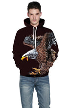 Load image into Gallery viewer, Eagle  Print Pullover Hoodie